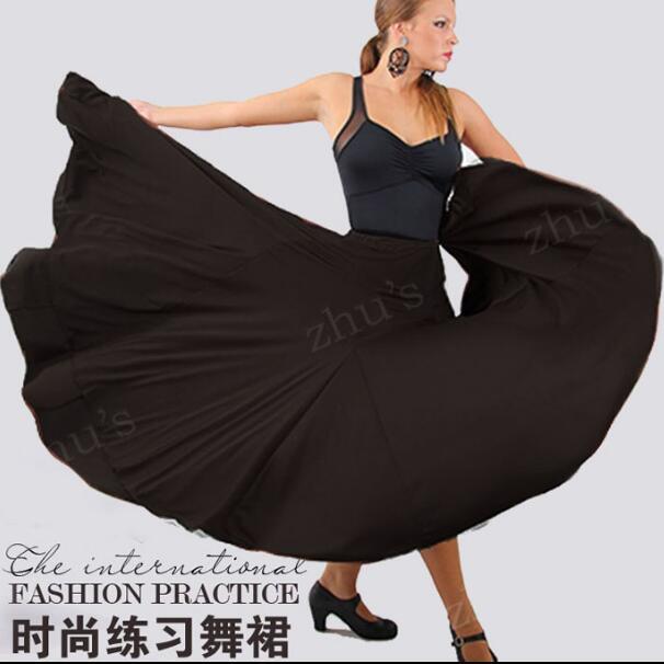 Professional Long Flamenco Skirts Women Ladies Red Black Flamenco Dance Costume Spanish Flamenco Dress