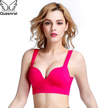 Queenral Comfortable Seamless Bra Women Underwear BH Lingerie Solid Bralete Lady Wire Free Brassiere Breathable Intimates Female