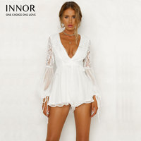 how lace Halter White Floral Playsuits Women Backless Bow Summer Beach Short Rompers Boho Jumpsuits Overall