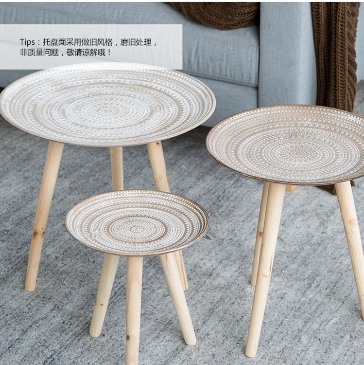 Europe teapoy for living roomFactory sell directly hot Nordic small table Wood  shelf basket  Floor Type wood salver brief