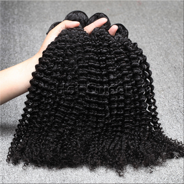 7A Brazilian Virgin Hair  Unprocessed Brazilian Kinky Curly Virgin Hair 4 Bundles/Lot Human Remy Hair Weaves Free Shipping