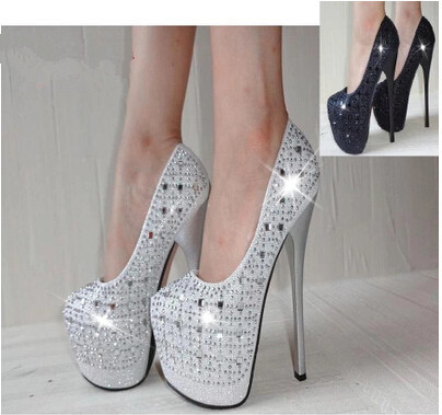 Aliexpress.com : Buy Women's 16cm high heels sexy closed toe ...