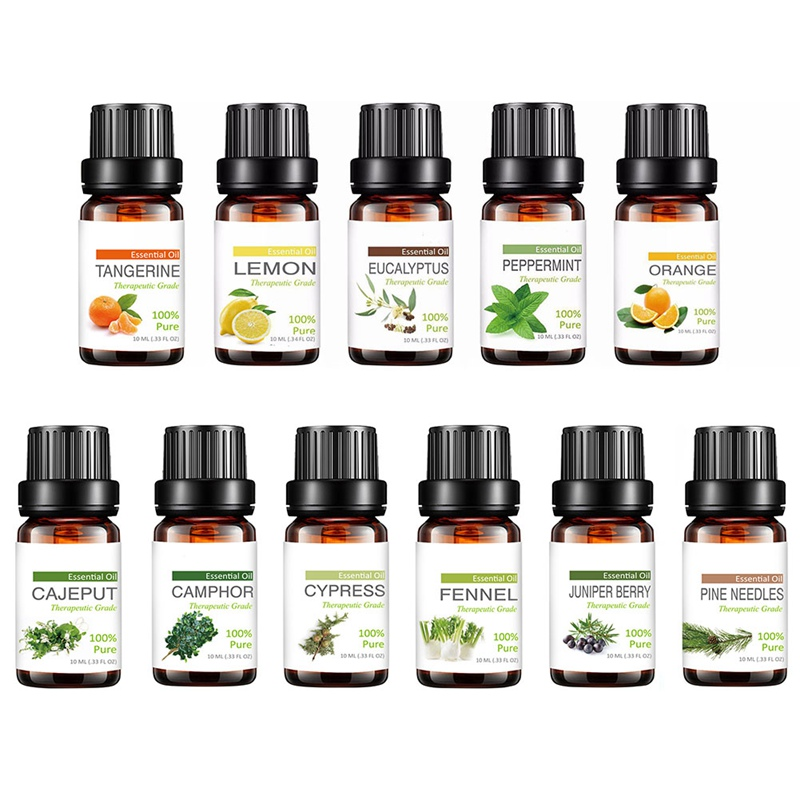 Essential Oils For Aromatherapy Diffusers Pure Essential Oils Organic Body Massage Relax 10ml Fragrance Oil Skin