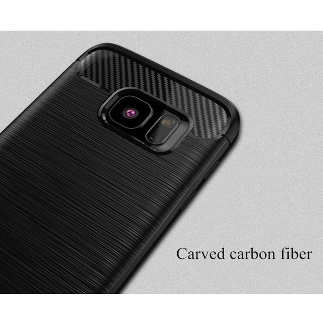 For Samsung Galaxy S7 S6 edge Case Hybrid TPU Carbon Fiber Brushed Protective Silicone Soft Case For Samsung S8 S9 Plus Cover