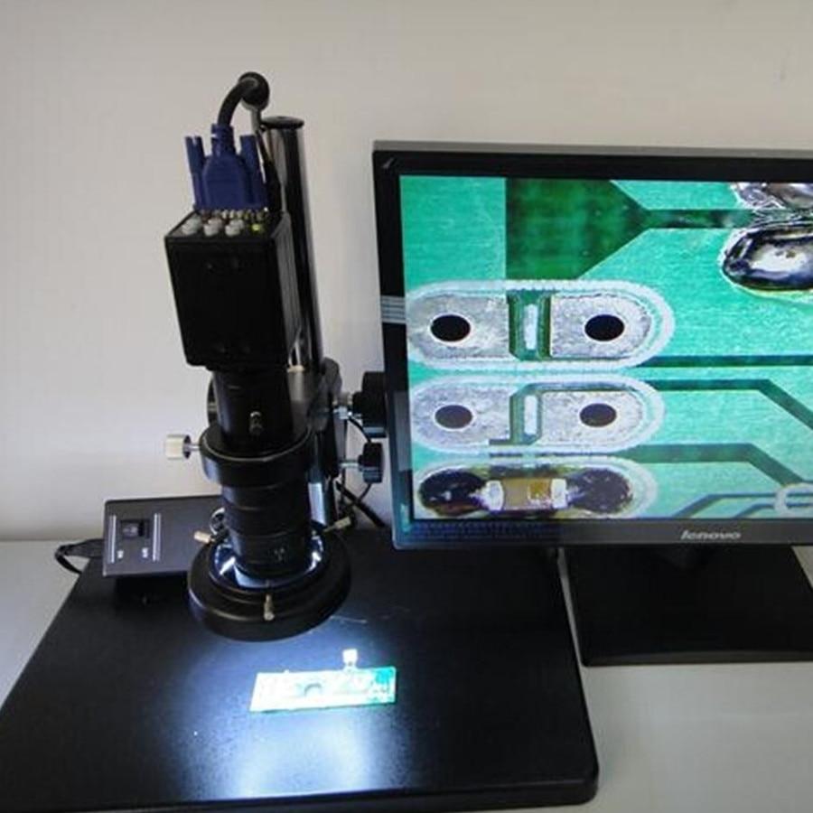 Aliepxress wholesale high quality FHD 130 High speed 130W electronic font b microscope b font VGA