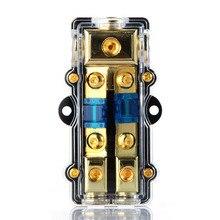 1 шт. Универсальный автомобильный аудио усилитель 1 в 2 выхода 60A держатель предохранителя Предохранитель коробка