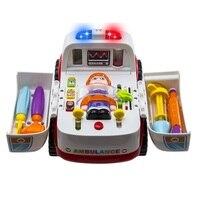 Free Shipping 836 Ambulance Baby Simulation Toys Brinquedos Bebe Electrical Vehicle Toy Carrinhos E Cia Baby