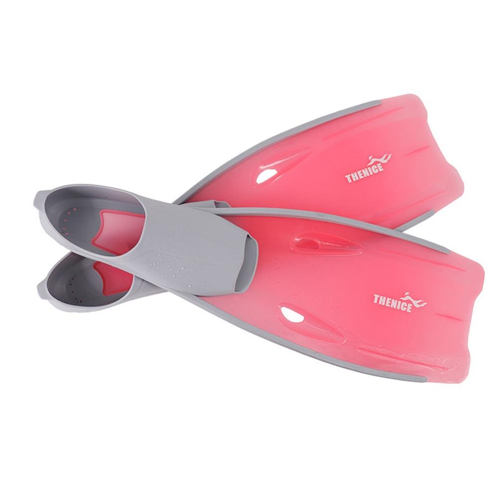 1 Pair Universal Translucent Snorkeling Flippers Fins-Long Blade Design Full Foot Flipper Snorkel Diving Floating Foot Flipper