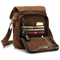 Moore Carden Men's Canvas Bags Vintage Messenger Bag Business Handbags Casual Travel Shoulder Bag Man Crossbody Bags Male Bolsa
