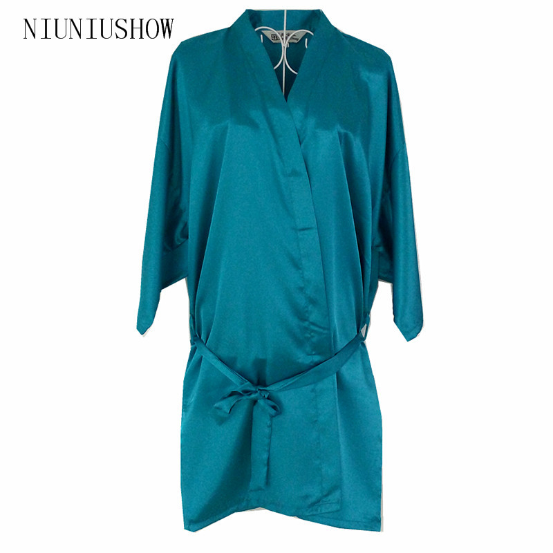 New Lake Blue Chinese Women Silk Rayon Robe Kimono Bath Gown Sleepwear Sexy Lingerie Nightgowns Plus Size S M L XL XXL XXXL