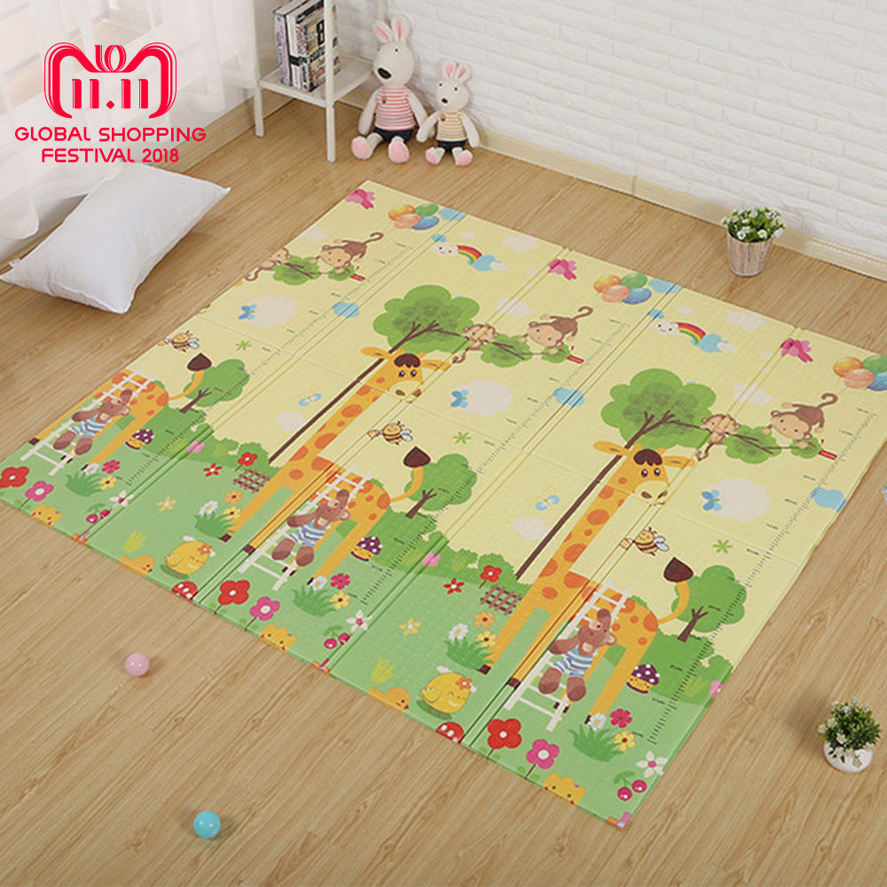 Children's Floor Rugs 180x200cm Infant Play Mat Cartoon Baby Floor Mat Foldable Anti Skid Carpet Children S Rug Puzzle Carpet In The Nursery Game Mat In Play Mats From