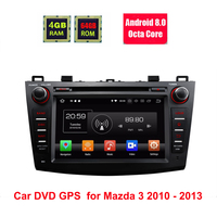 8 IPS Octa Core Android 8.0 Oreo Car DVD Multimedia Navigation GPS Radio for Mazda 3 2010 2011 2012 2013 with Split Screen Mode