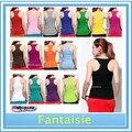 10 unids/lote + moda mujeres Ladies Racerback Tank Tops Cami Mini sin mangas del chaleco chaleco de la camiseta ( AX2 ) envío gratuito