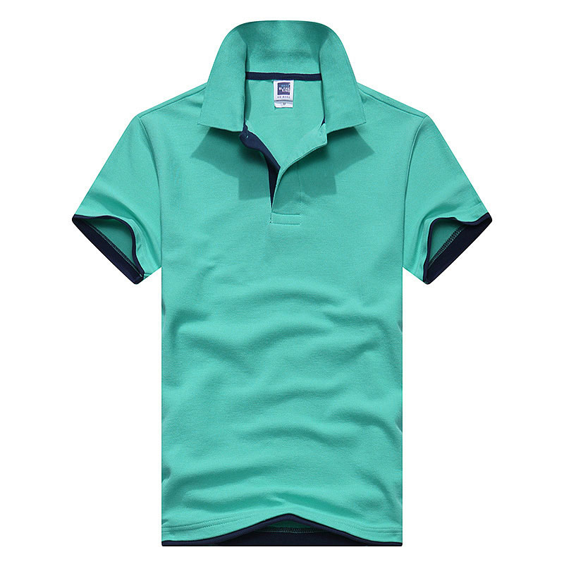 2018 New Fashion Camisetas Short Sleeve   Polo   Masculinas Turn Down Collar Summer Casual Men's   Polo   Shirt 15 Colors