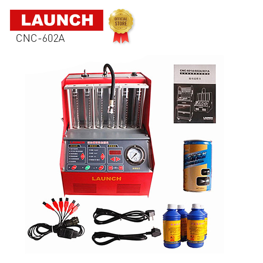 Launch CNC 602A <font><b>CNC602A</b></font> injector cleaner and tester CNC-602A With English Panel free shipping DHL image