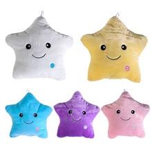 Colorido Travesseiro de Corpo Estrela Brilho CONDUZIU a Luz Luminosa Travesseiro Almofada macio Presente Sorriso 5 Cores Corpo Relaxar Travesseiro Frete Grátis V1NF