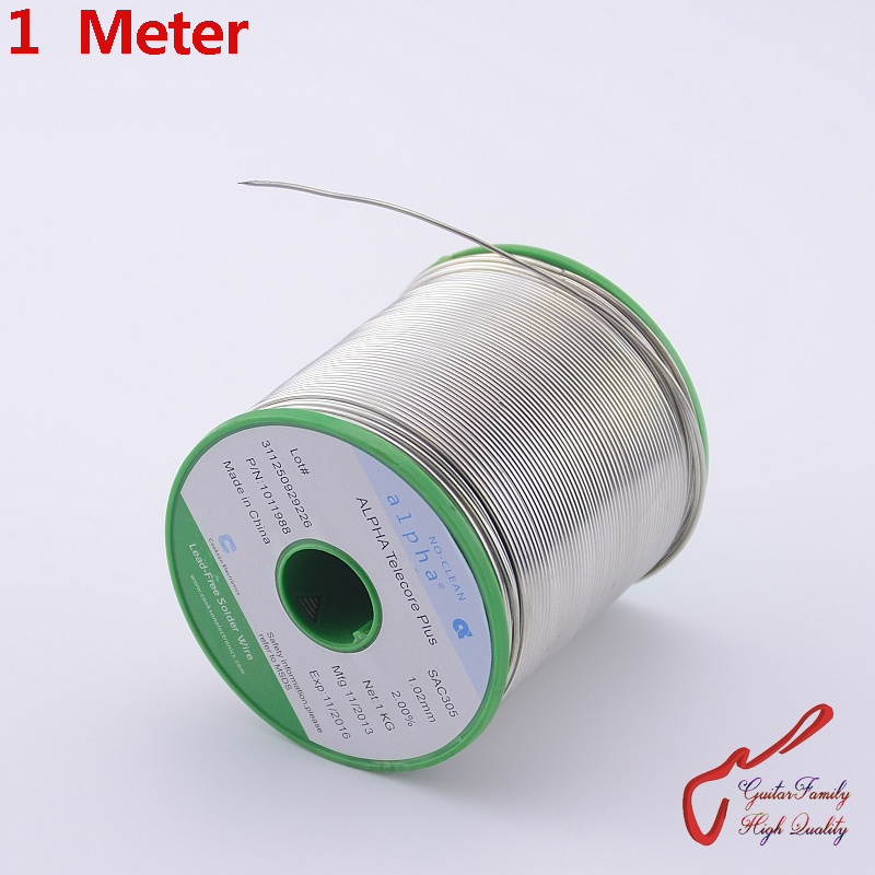 1 Meter GuitarFamily  ALPHA SAC305 Solder Wire Lead-Free  ( 3% Silver Content )