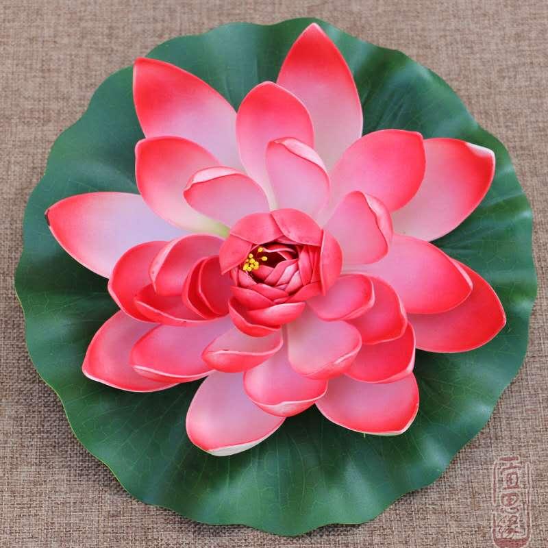 Fish Tank Floating Lotus Artificial Flower Pond Plant Ornament Aquarium Home Garden Decoration 1pcs 10cm in Decorations from Home Garden