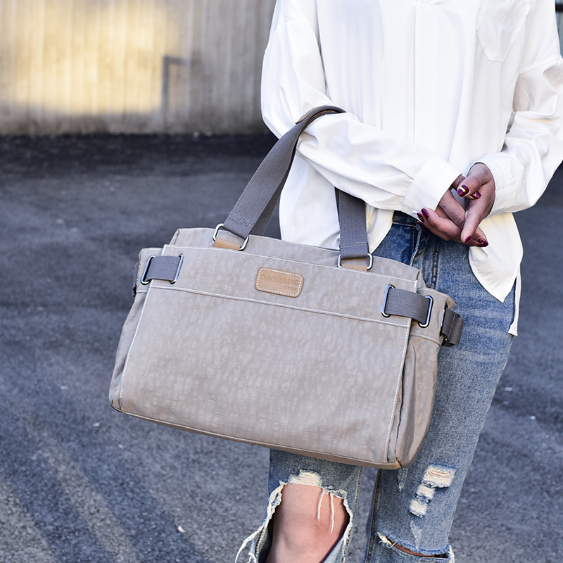 New simple design oxford pure color women messenger bag fashion girls handbag bag portable shoulder bag cross-body bag 2016 new simple color block rivets design women s shoulder bag