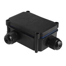 OOTDTY черный водонепроницаемый IP66 Пластиковый кабель провода соединитель сальника электрическая распределительная коробка