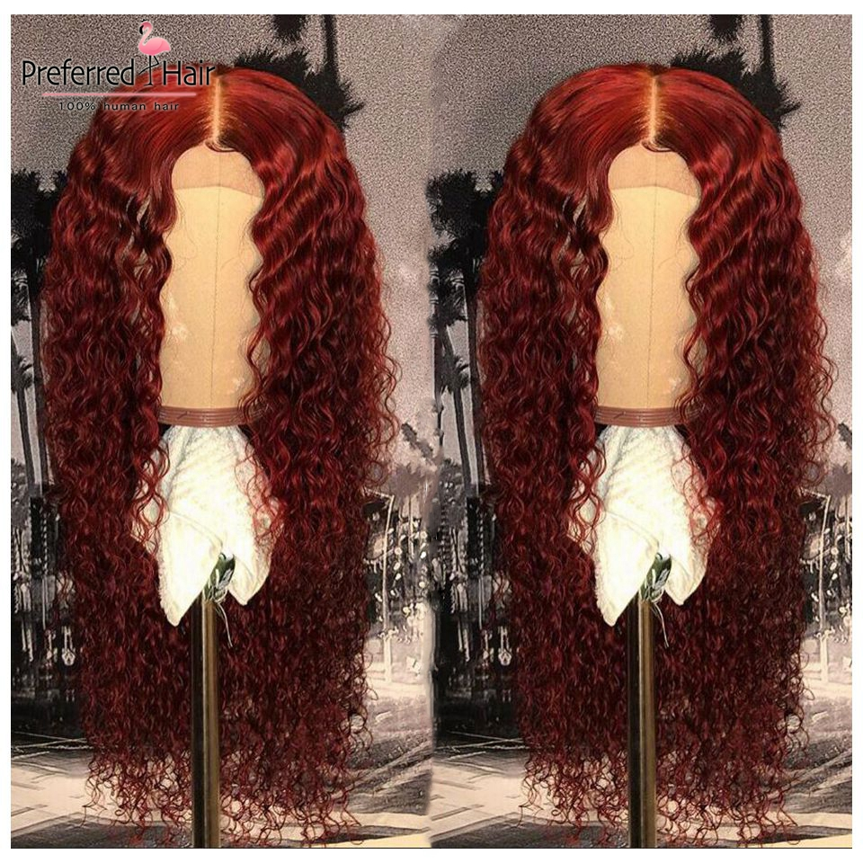 red human hair wig