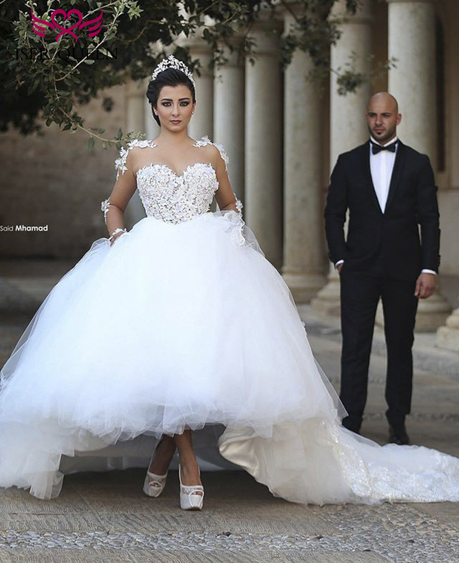 2019 Dubai Arabic Wedding Dresses Lace Appliques Off: Dubai Arab Wedding Dress 2019 Ball Gown Princess Plus Size