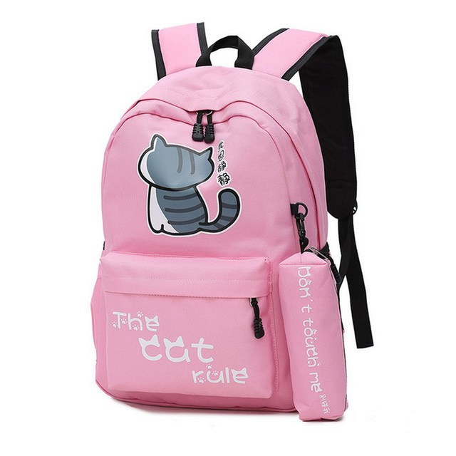 US $18.99 50% OFF|Anime Cat Backpack School
