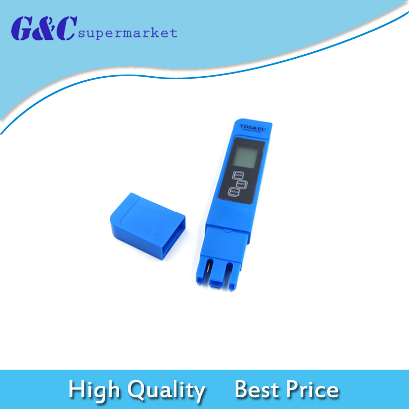 Новый профессиональный синий качество воды Тесты цифровой измеритель инструмент с tds EC и Температура 0-9990 ppm Диапазон измерения
