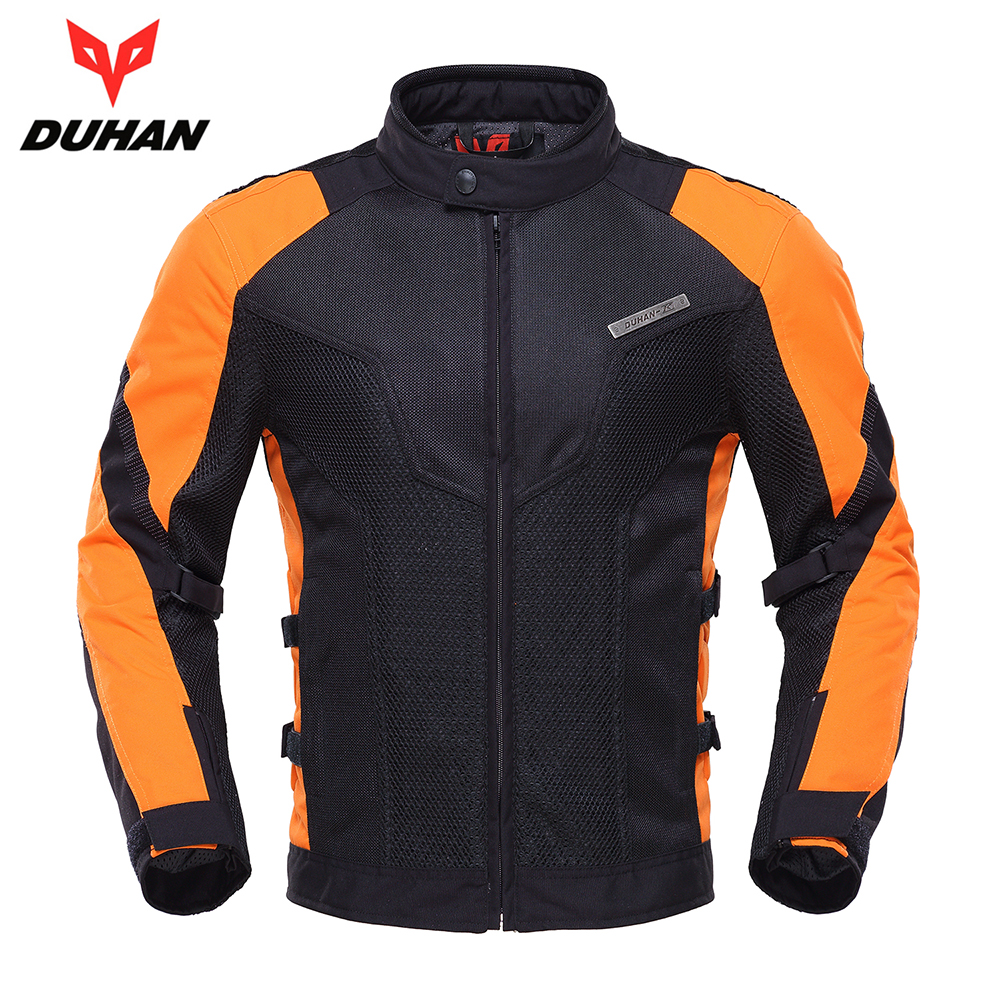 DUHAN Spring Summer Men Motorcycle Jacket Motocross Clothing Breathable Moto Jacket Motorbike Racing Protective Gear Armor duhan motorcycle jacket motocross jacket moto men windproof cold proof clothing motorbike protective gear for winter autumn