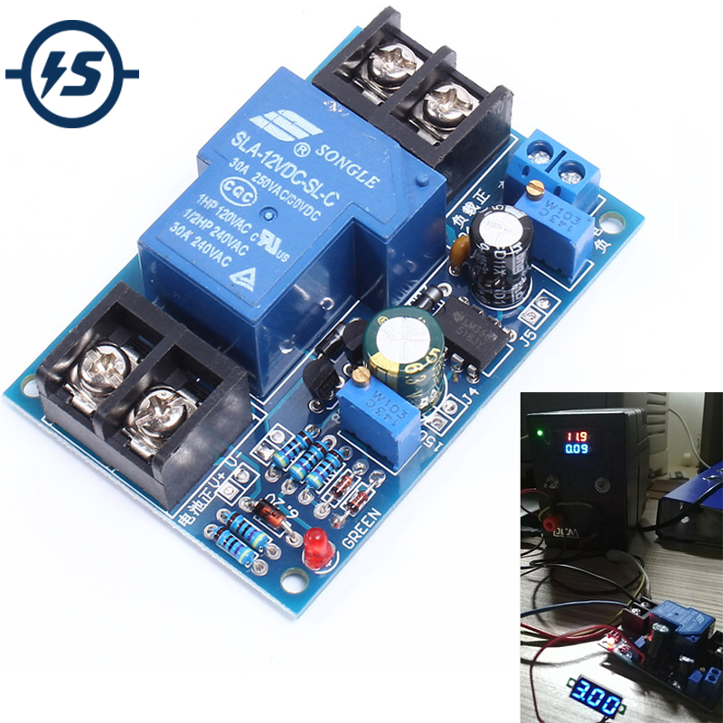 12V Battery Discharge Protection Module Board Anti-Over Automatically Restore Low Voltage With LED Indicator Light Universal