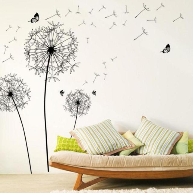 Charmant DIY Beautiful Dandelion Wall Stickers Living Room Bedroom Dream Of Flying Wall  Art Wall Stickers Home
