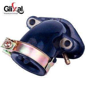 Image 4 - Glixal المكربن مشعب السحب ل 49cc 50cc GY6 سكوتر الدراجة ATV الذهاب كارت عربات التي تجرها الدواب 139QMB 139QMA (1 منفذ فراغ)
