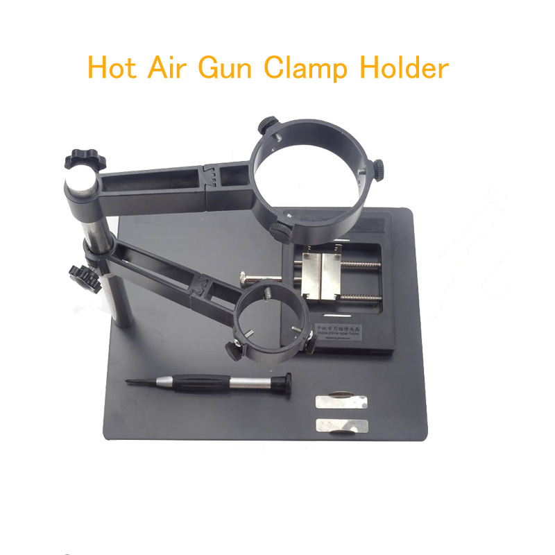 F-204 Hot Air Gun Clamp Holder Set for Rework Station Phone Repair Platform Multifunction Fixture Circuit Board Clamp repair platform hot air gun clamp stand for bga rework reballing station