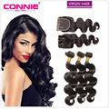 Unprocessed Virgin Brazilian Hair Body Wave With Closure 3 Bundles Human Hair With Closure 8A Brazilian Virgin Hair With Closure