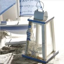 Mediterranean Retro Candlestick Wooden Wind Candle Holder Romantic Wedding Lantern Bar Home Decor