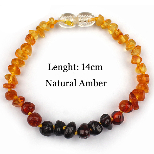 Rainbow Color Multicolor Baby Chew Bracelet Certified Natural Baltic Amber Teething Jewelry Gift For