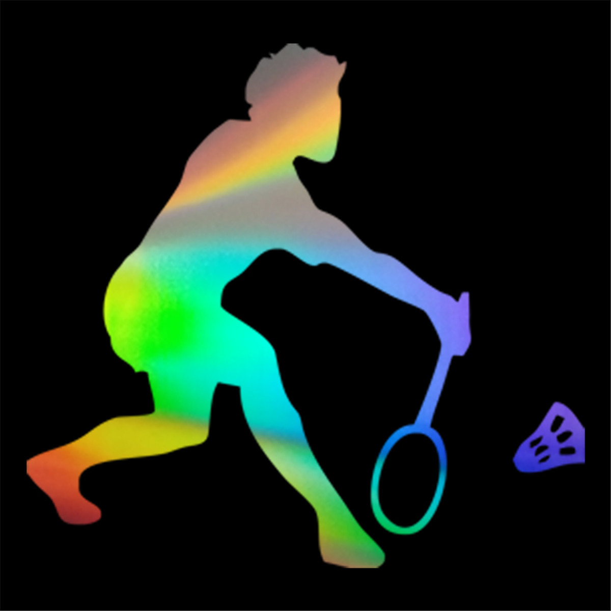 Badminton Sports Player Wall Home Glass Window Door Car Sticker Laptop Auto Car Truck Vinly