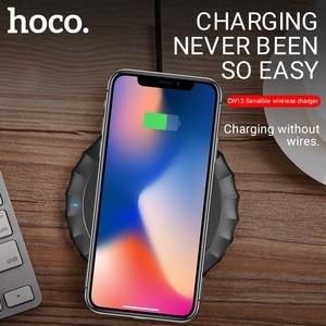 Image 2 - Hoco draadloze oplader voor apple iphone samsung xiaomi telefoons opladen pad draagbare desktop adapter draadloze mat opladen base
