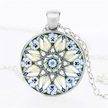 New 2018 Flower of Life Necklace Om Yoga Chakra Pendant Mandala Necklace Fashion Glass Dome Sacred Geometry Women Jewelry(China)