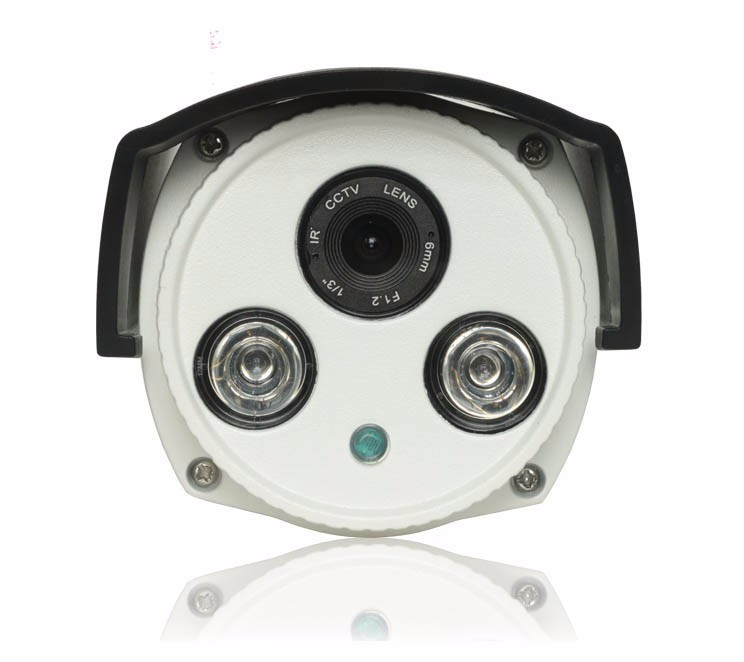 Haikang Two Array Leds Metal Case 1080P,960P ,720P Cmos HD 3mp Lens With POE IP Camera picture 01