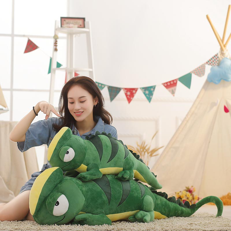 100cm 140cm Lizard Plush Toy Simulation Stuffed Animal Soft Doll Real Life Plush Chameleon Toys For Children Kids Birthday Gift цены
