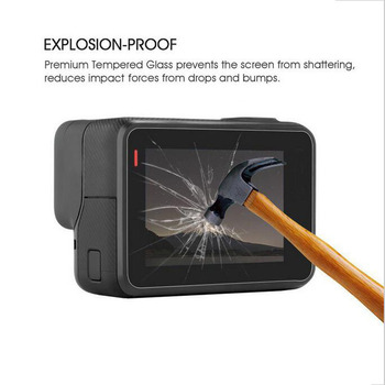 Tempered Glass Protector Cover Case For GoPro Go pro Hero 5 6 7 Hero5 Hero6 Hero7 Black Camera Lens LCD Screen Protective Film 1