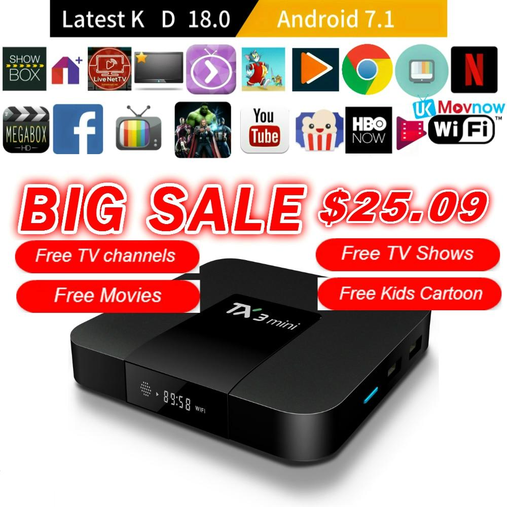 TTVBOX TX3 Mini Android TV BOX Android 7.1 OS 1 gb/8 gb 2 gb/16 gb Amlogic s905W Quad Core Smart TV Box 2.4g WiFi HDMI Media Player