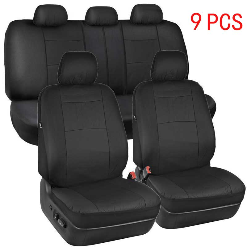 9 PCS Leather Car seat cover auto seats covers accessories for mitsubishi carisma outlander 3 xl Star ex mirage Cross 2006 2007