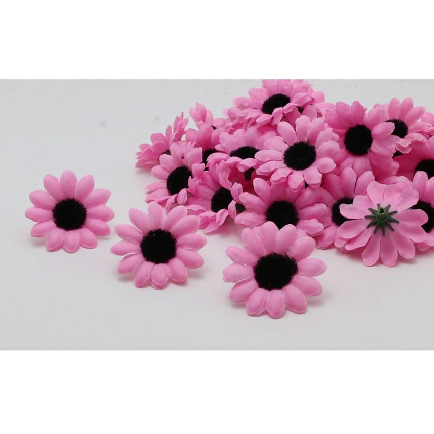 100pcs 12 color Gerbera Daisy Heads Artificial Silk Flower Decor Autumn style