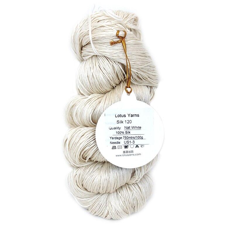 Knitting Yarn Aliexpress : G hank lot pure silk yarn hand knitting natural