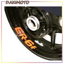 цена на for KAWASAKI ER6F ER 6F Motorcycle Inner Rim Decals Wheel Reflective Stickers Stripes