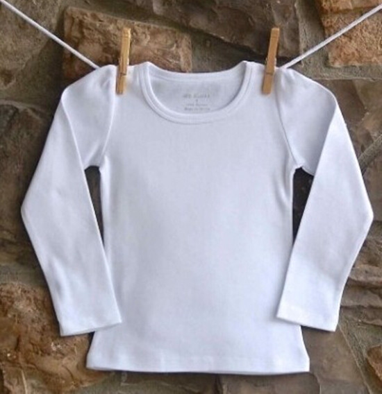Spring And Autumn Baby Girl Long Sleeve T Shirts Solid