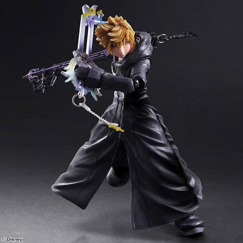 Kingdom Hearts Play Arts Kai Sora PVC Action Figure Toy 26cm Movie Game Anime Kingdom Hearts II Roxas Playarts Kai