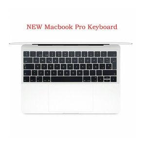 5 sztuk silikonowe Euro wersja hiszpańska klawiatura układ dla Macbook Pro z touch bar nowy Pro 13 15 naklejki na klawiaturę skórzany pokrowiec
